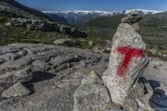 030 Norwegia Tyssedal Trolltunga Skjeggedal Ringedalsvatnet