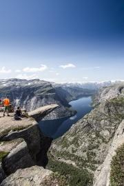 036 Norwegia Tyssedal Trolltunga Skjeggedal Ringedalsvatnet