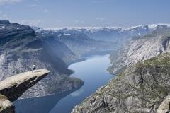 038 Norwegia Tyssedal Trolltunga Skjeggedal Ringedalsvatnet