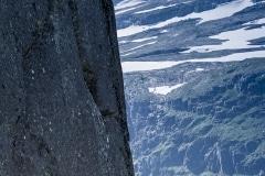 039 Norwegia Tyssedal Trolltunga Skjeggedal Ringedalsvatnet