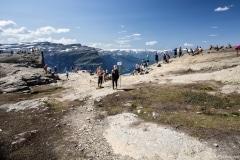 042 Norwegia Tyssedal Trolltunga Skjeggedal Ringedalsvatnet
